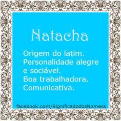 Significado do nome Natacha | Significado dos Nomes