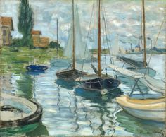 Claude Monet, Boats Moored at Le Petit-Gennevilliers