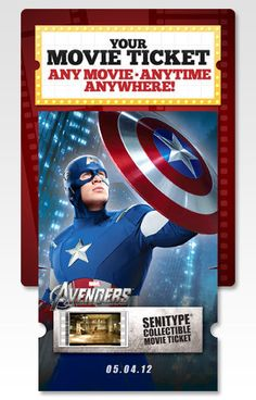 New Avengers Images On Collectible Tickets