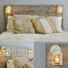 My Bedroom Headboard Ideas, Diy Headboard With Lights, Diy Headboards, Diy  Pallet Headboard