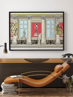 Romancing Paris - Illustration - Framed Limited Edition Print – Tiffany La Belle