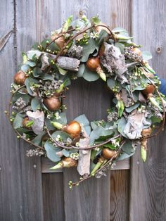 Fall Wreaths, Easter Wreaths, Door Wreaths, Diy Crafts How To Make, How To Make Wreaths, Christmas Deco, Christmas Wreaths, Decoration Inspiration, Flower Food