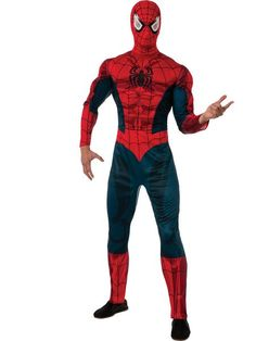 CLASSIC SPIDERMAN MUSCLE CHEST COSTUME $75.00