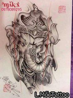Ozzy Tattoo, Ma Tattoo, Ganesh Tattoo, Elephant Head Tattoo, Elefant Tattoo, Monkey Tattoos, Buddha Tattoos, Japanese Tattoo Art, Japan Tattoo