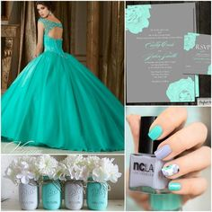 Quinceanera Teal and Grey Theme Ideas | Quinceanera Ideas | Quinceanera Planning |