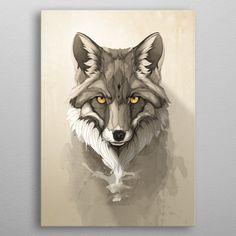 Red Fox Art Print by Rafapasta - X-Small Illustration Main, Art Fox, Poster Mural, Poster Poster, Tree Artwork, Cg Artwork, Nature Posters, Metal Tree Wall Art, Desenho Tattoo