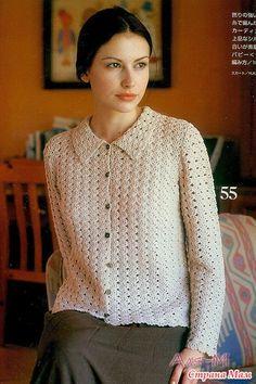 Crochet Coat, Crochet Cardigan, Crochet Clothes, Cardigan Pattern, Crochet Stitches, Sweaters For Women, Knitting, Fashion, Crochet Blouse