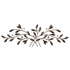 60-inch Traditional Hue Metal Leave With Berries On Iron Branches Wall Sculpture