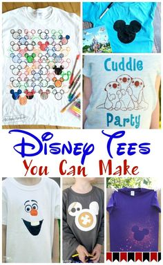 Headed to a Disney vacation soon? There are so many creative tees that you can make for your family. Check out a few of these awesome shirts. They are made with a variety of methods - Silhouette Cameo, Cricut, bleach, and other ways to DIY. Disney Shirts For Family, Disney Tees, Walt Disney, Disney Cruise, Disney Money, Disney 2017, Disney Family, Disney Parks, Disneyland Family Shirts