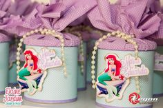 We selected more than 50 photos to be inspired for party decoration in the theme Mermaid or Little Mermaid. Little Mermaid Birthday, Little Mermaid Parties, The Little Mermaid, Mermaid Cakes, First Birthday Photos, Baby Girl Birthday, Princess Party, Holidays And Events, Gifts For Kids