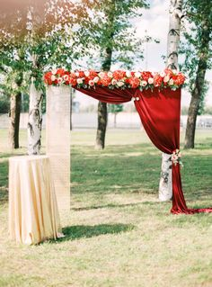 Red And Black Wedding Damask