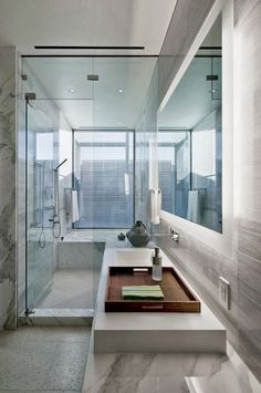 Small white bathroom in Multimillion modern dream home in Las Vegas