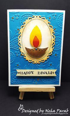 Completely Handmade……: Diwali Cards – Day 3 – 80 best and easy rangoli designs for diwali festival part coconut candle holdersdiwali elephant cross stitch pattern Diwali Facts, Handmade Diwali Greeting Cards, Diwali Activities, Diwali Greetings, Festive Crafts, Diwali Craft, Kindergarten Crafts, Art N Craft, Diwali Decorations