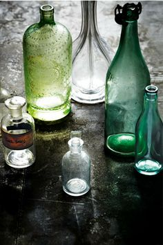 Aged-in-luminosity Vintage glass vessels whisper of times gone by.   Like this? Try our other DIY ideas: * Natural...