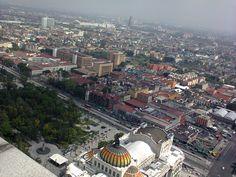 """""""Ciudad, Palacio de Bellas Artes y parte de la Alameda Central,  desde el mirador de la Torre Latinoamericana"""", foto 14"""