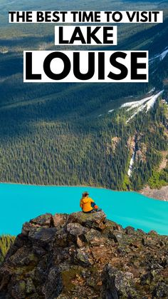 The best time to visit Lake Louise in Banff National Park, Alberta Canada / Travel in Alberta / Lake Louise / Canada #Banff #Alberta #NationalPark