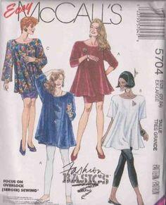 Misses Trapeze Tunic, Skirt And Leggings - Leggings For Stretch Knits Only McCall's Sewing Pattern 5704 (Size: 22-24)$12.98