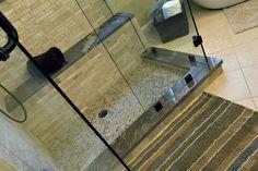 Snake Brown Granite Shower Bench