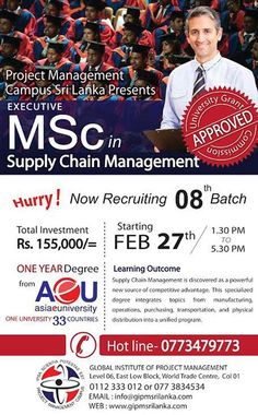 Executive MSc in Supply Chain Management  Executive MSc in Supply Chain Management