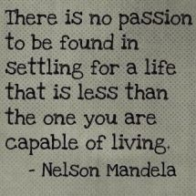 Nelson Mandela- here's to a great man.