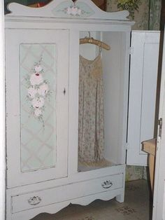 Vintage Cottage Painted Roses Armoire Chic by SimplyCottageChic, $525.00