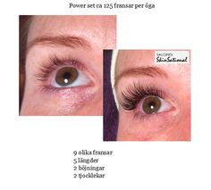 Beautiful before and after of Xtreme Lashes extensions from Sweden.
