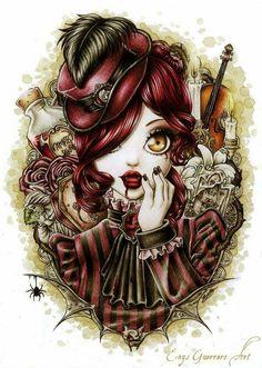 Victorian vampire girl