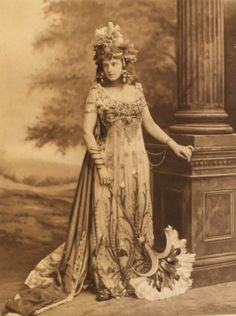 The Hon. Mrs Algernon Bourke dressed as Salammbo (a fictional princess of Carthage) at the Duchess of Devonshire's 1897 Diamond Jubilee costume ball.