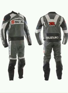 Suzuki Gsx Grey Motorbike Motorcycle Biker Cowhide Leather Armoured Pant/trouser Ture 100% Guarantee Men's Clothing