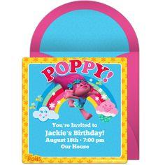 TROLLS PUFFY STICKER SHEETS Poppy Branch Girls Party Bag filler choose quantity