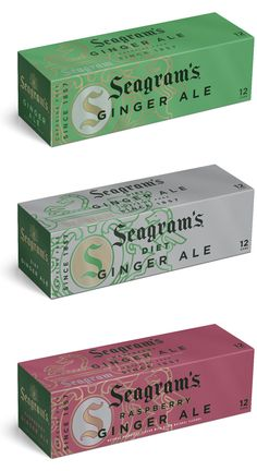 Seagram's rebrand. So regal and sleek.