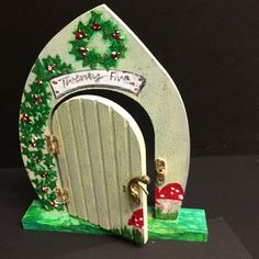 Painted Fairy Door -
