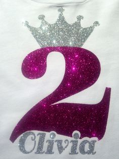 Birthday Girl - Use CAD-CUT Glitter Flake and a heat press to create one for your little princess.