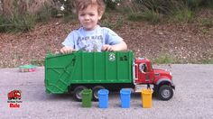 Garbage Truck Videos For Children l Street Trash Pick Up With 4 Year Old...
