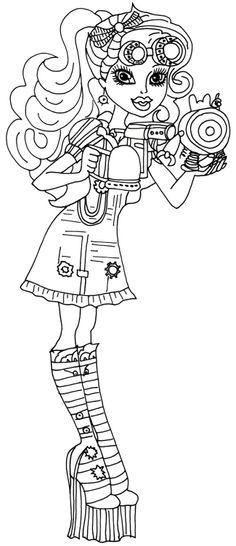 Monster High Robecca Steam Issuing Tools Coloring Page