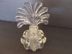 Vintage Pressed Glass/Lead Crystal Perfume Bottle.