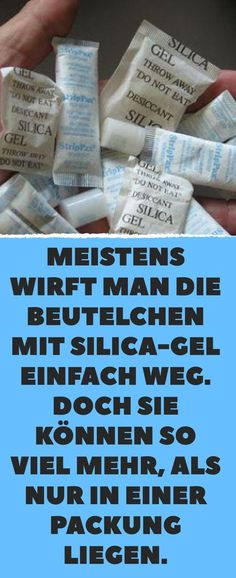 Most of the time you just throw the sachets of silica gel away. But they can be so much more than ju Silica Gel, Life Hacks, Health Savings Account, Budget Planer, Housekeeping, How To Plan, Personalized Items, Garden Ideas, Games