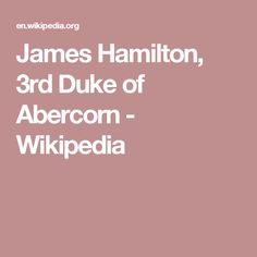 James Hamilton, 3rd Duke of Abercorn - Wikipedia