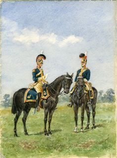 British; Royal Horse Guards,  1815 by Reginald Augustus Wymer