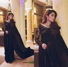 Soon we going to see her in her next drama What do you think of her black saree look? making our heart skip a beat💕 Pakistani Fashion Party Wear, Pakistani Dresses Casual, Pakistani Wedding Outfits, Pakistani Dress Design, Black Pakistani Dress, Black Saree Blouse, Shadi Dresses, White Saree, Pakistani Couture