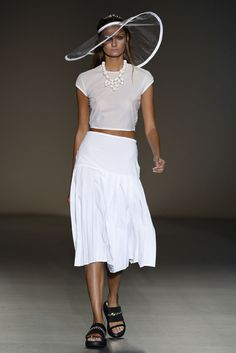 GOLDIE - MBFW MADRID EGO Panama Hat, Lace Skirt, Madrid, Fashion Show, Skirts, Pants, Clothes, Style, Pattern Cutting