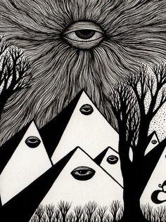 Eye in the sky art inspo, art visionnaire, occult art, eye art, Psychedelic Art, Art Sketches, Art Drawings, Art Visionnaire, Illustration Photo, 8bit Art, Arte Sketchbook, Psy Art, Occult Art