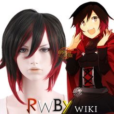 RWBY Ruby Rose Short Brown Mixed Red Heat Resistant Anime Cosplay Wig - CosplayBuzz Style Code: Color: Brown Mixed Red Size: One size Length: 12 inches or Material: Japanese synthetic fiber Heat Resistant: Heat Resistant Rwby Cosplay, Cosplay Wigs, Anime Cosplay, Cosplay Costumes, Emma Rose, Ruby Rose, Rwby Red Trailer, Rose Costume, Anime Wigs