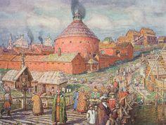 Пушечно-литейный двор на реке Неглинной в XVII век