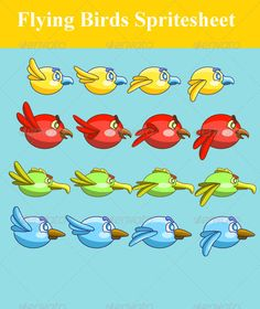 Flying Birds Spritesheet | GraphicRiver