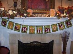 Cute fall fireplace decorations - New Ideas Thanksgiving Mantle, Thanksgiving Blessings, Thanksgiving Decorations, Thanksgiving Crafts, Fall Decorations, Holiday Themes, Holiday Fun, Holiday Decor, Holiday Ideas