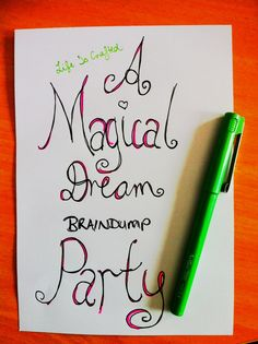 8 Steps to Creating Your Own Magical Monday Life Crafting Braindump Party! | Life Is Crafted