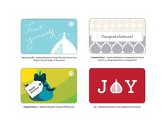 Fig-inspired gift cards by Adam Griffin, via Behance