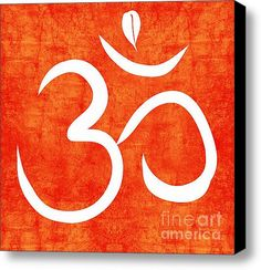 Om Spice Stretched Canvas Print / Canvas Art By Linda Woods
