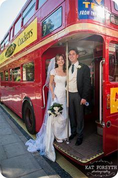 London bus | Routemaster wedding photo